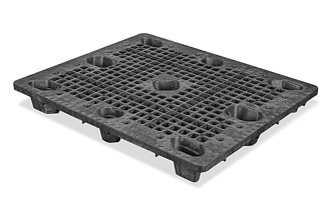 A nestable plastic pallet