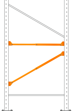 Brace on rack assembly v2-1