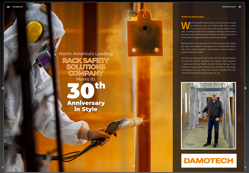 Article about Damotech in Business in Focus Magazine