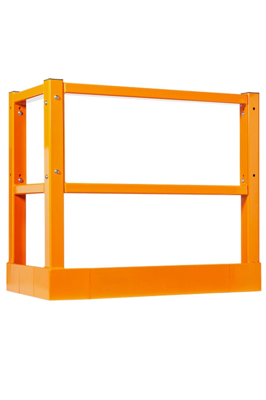 Cloture protectrice orange pour entrepot de marque Damotech
