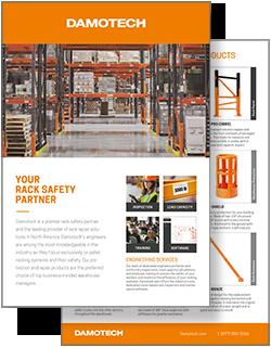 Pallet rack safety solutions Damotech flyer