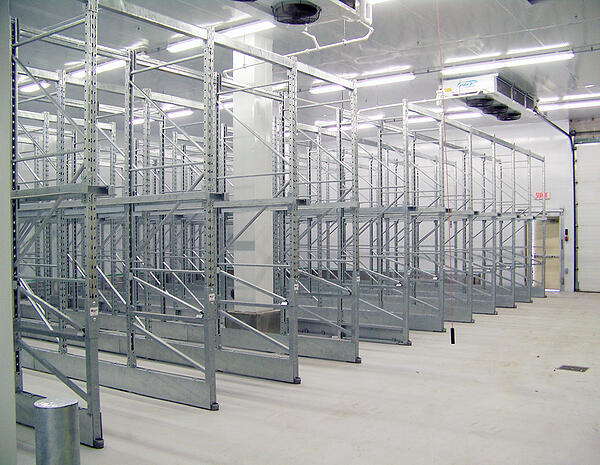 Damotech Galvanized Rack Repairs Installation in Cold Storage Freezer