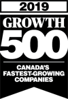Black logo of Growth 500 Annual Ranking