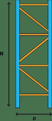 height to depth pallet rack