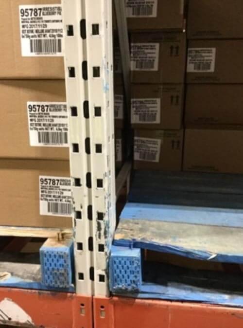 Improper pallet storage