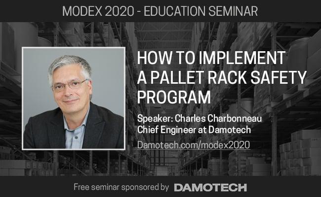 Invitationto seminars hosted by Damotech at Modex 2020