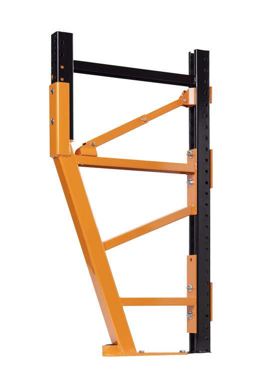 Damotech Damo Pro repairing a cantilevered pallet rack upright