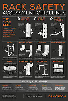Damotech Rack Safety Poster EN