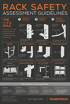 Damotech rack safety poster english