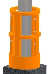 Damo Shield installed around a column.