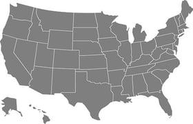 USA map 500px