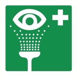 affiche douche oculaire