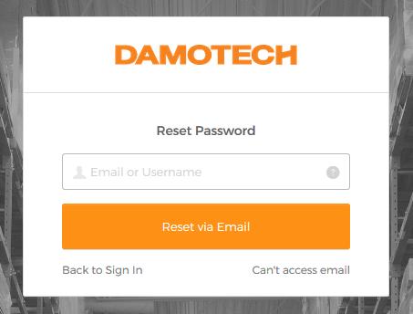 Damotech Platform Reset Password