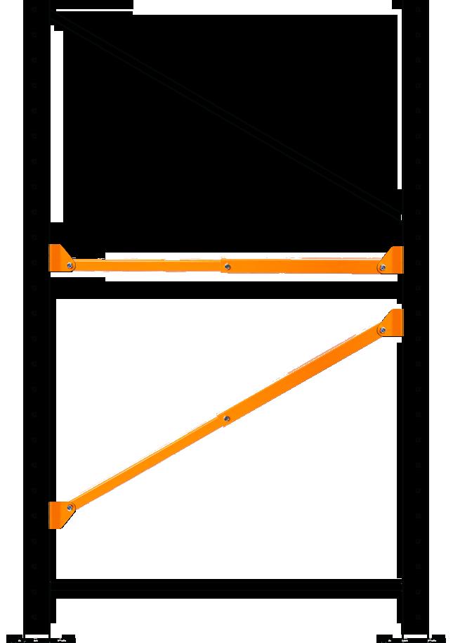 Damo Brace repairing horizontal and diagonal brace damaged