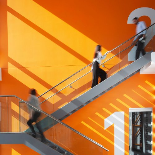 Damoch Building Lobby Stairs