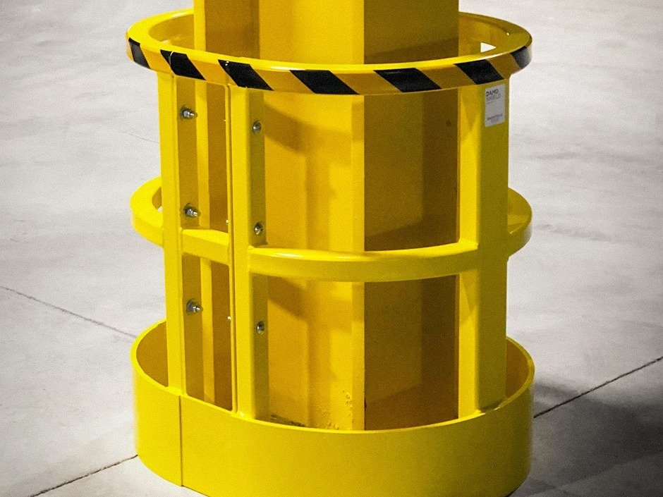 Damo Shield protecting a i column in a manufacturing facility