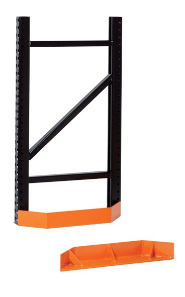 Damo End Guard protecting pallet rack uprights