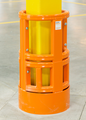 Damo Shield protecting a HSS steel building column in a warehouse