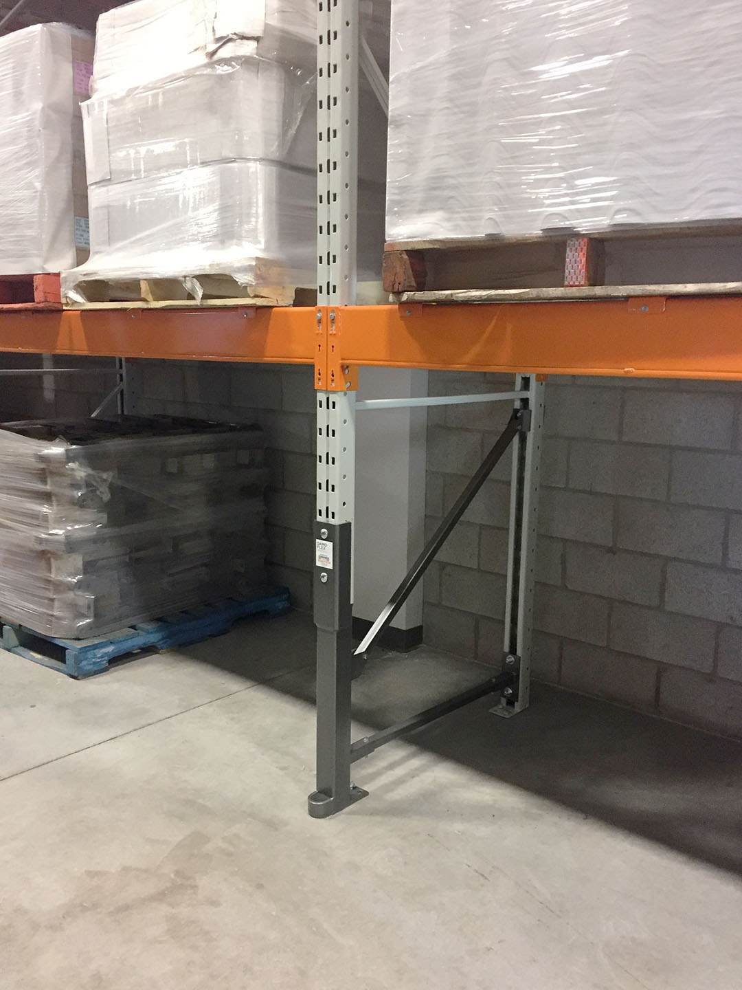 Pallet rack repaired with a Damo Flex - PSR Review