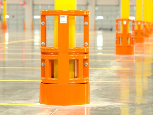 Parking Lots and garage column protected by Damo Shield