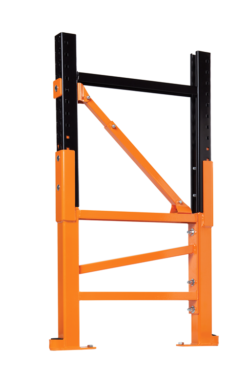 Damotech Damo Pro (DBRS) repairing two uprights of a pallet rack