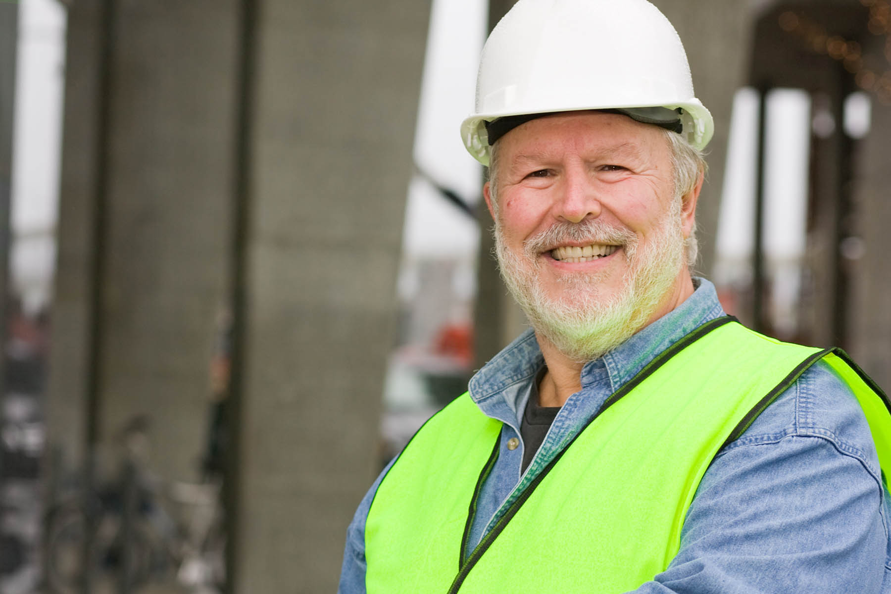 warehouse manager old man with beard